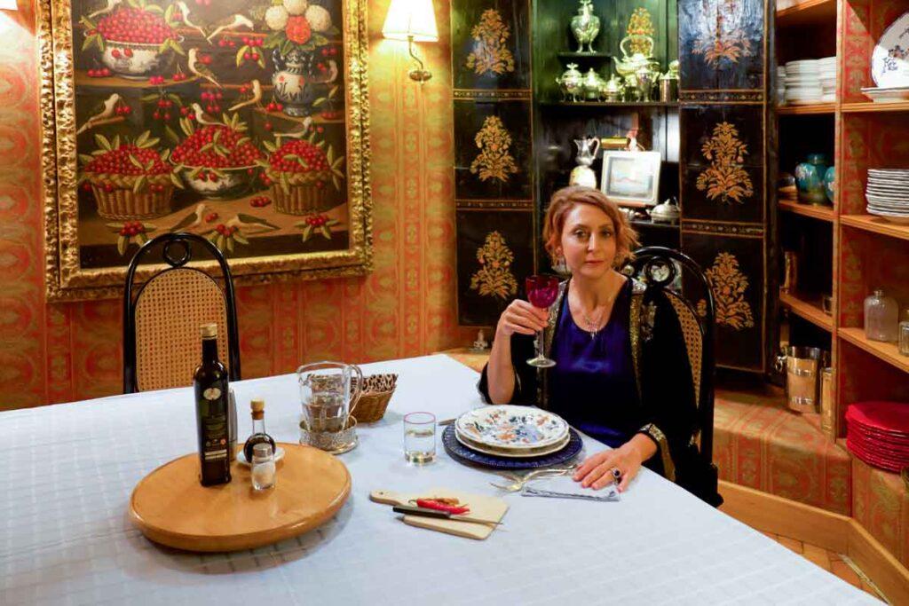 Paola Minaccioni sul set del film Lockdown all'italiana
