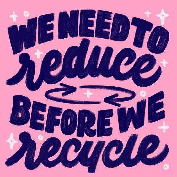 riduci prima di riciclare