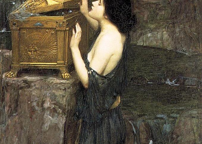 John William Waterhouse, Pandora apre lo scrigno (1896)